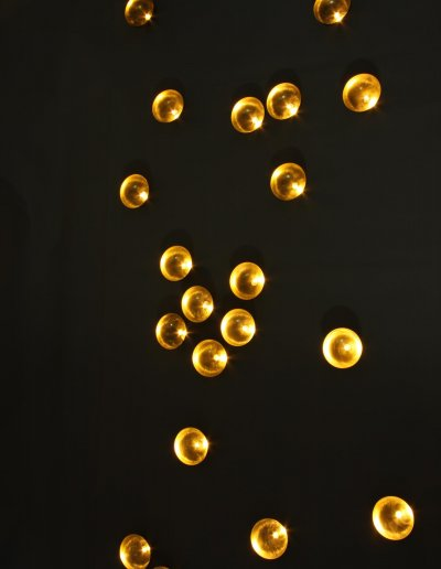 Nénuphars, brass, warm white LEDs
