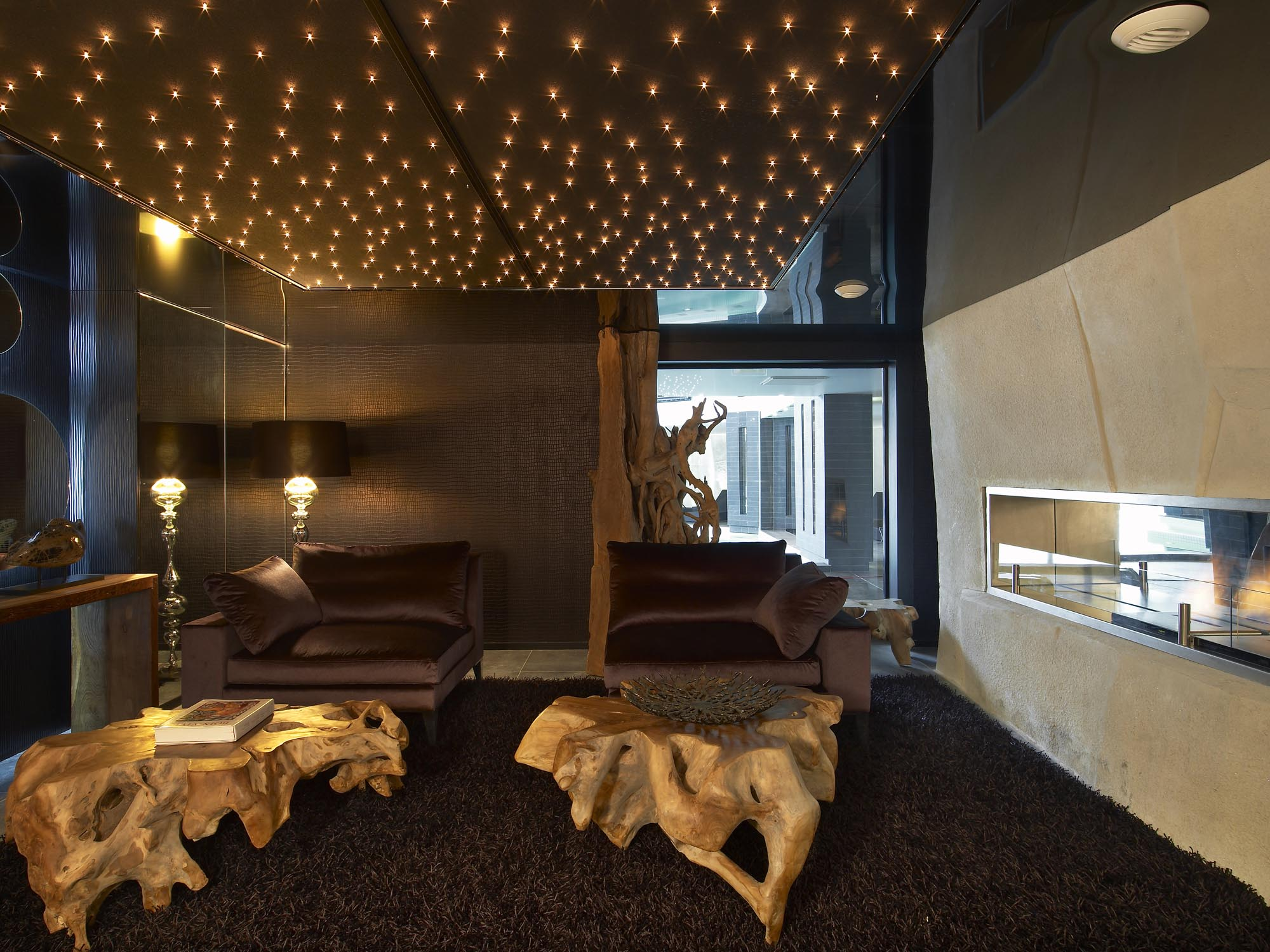 Starlit Plafonnier , warm white LEDs, 252x244cm, Spa hôtel Strato*****, Courchevel