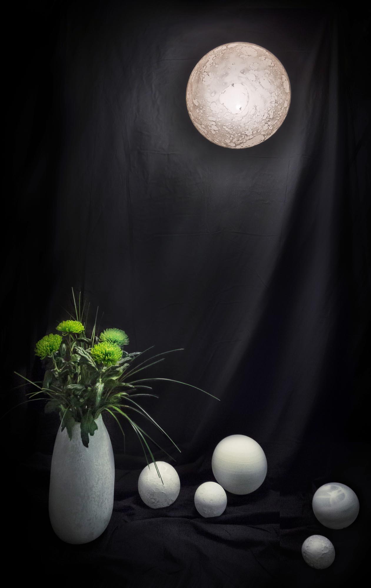 Applique Lune, diam. 42cm