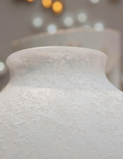 Vase à col Lune, H 23 x diam. 26cm