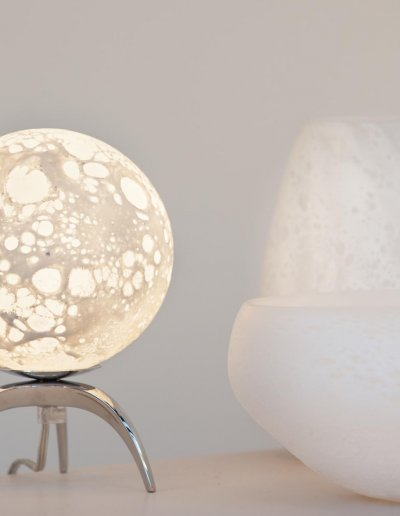 Vase Lune H 20 x diam. 12cm et Coupe Lune H 11 x diam. 23cm