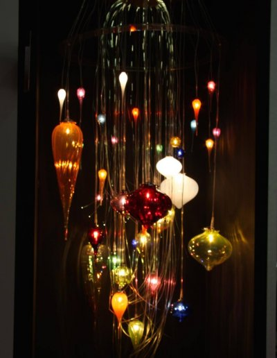 Maniola chandelier, blown glass