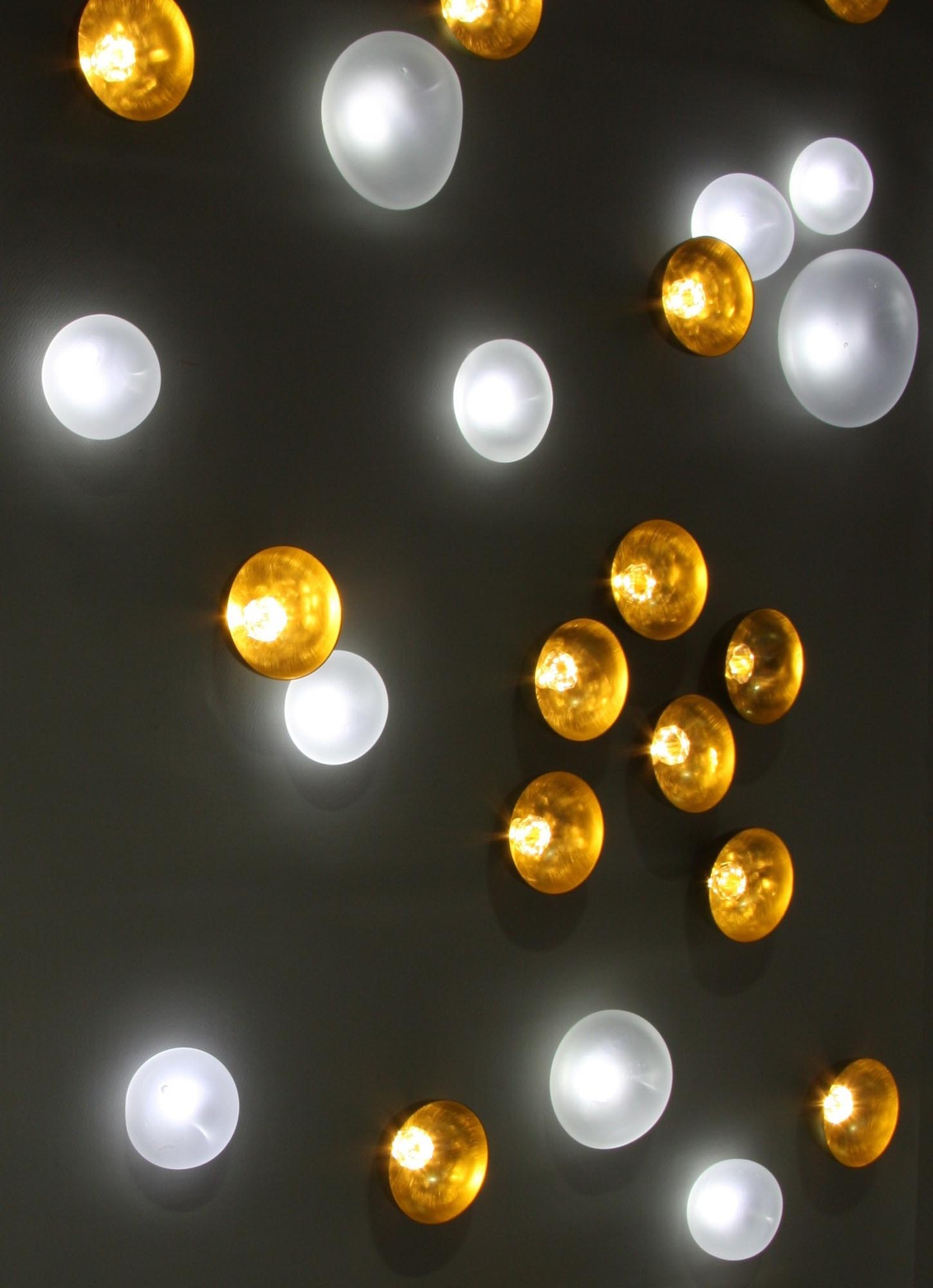 Nénuphars, brass, crystal, warm white LEDs