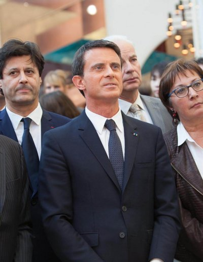 Mr. Valls, France Prime Minister, at our stand during the inauguration