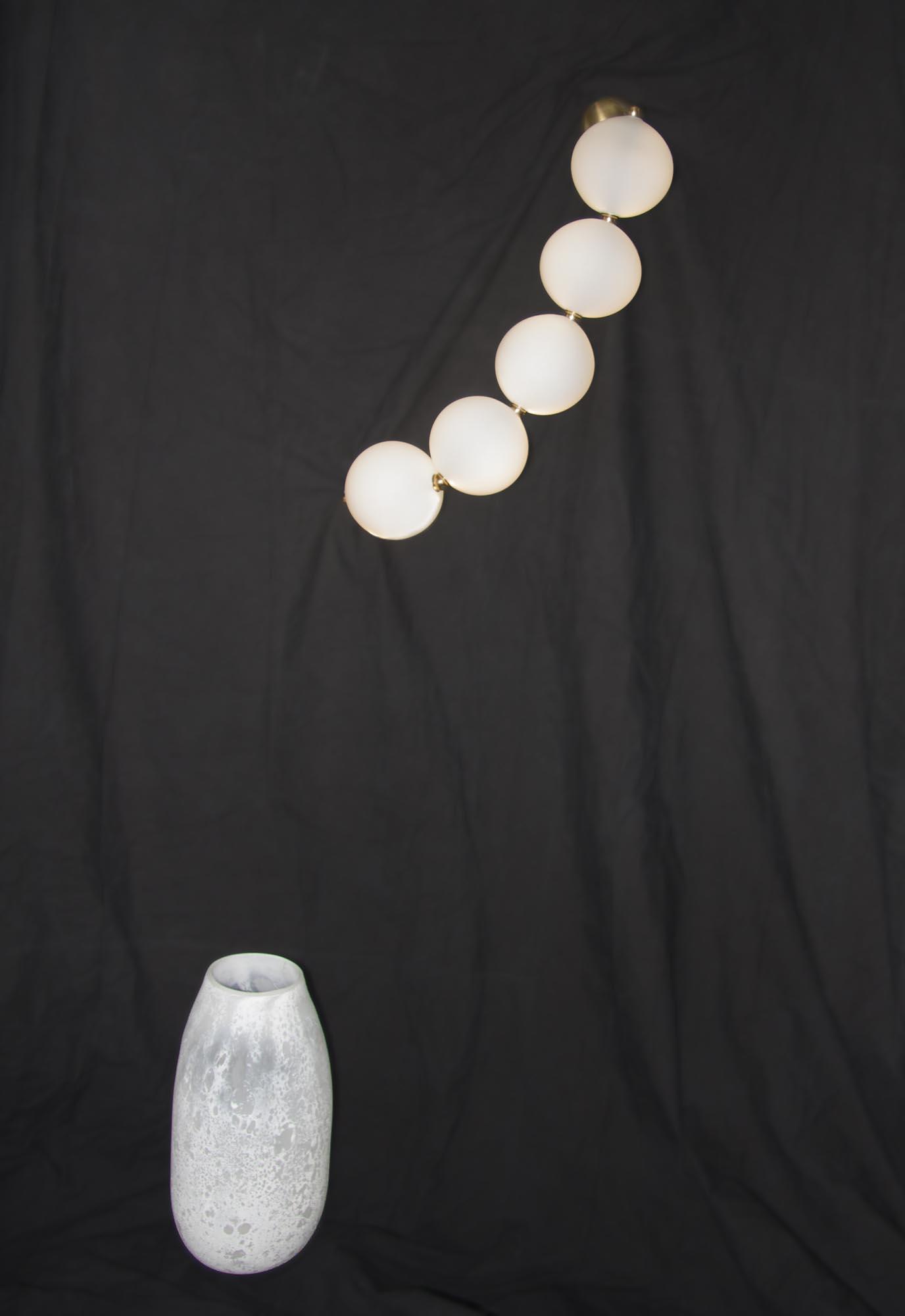 Vase Lune,  H 42 x diam. 20cm