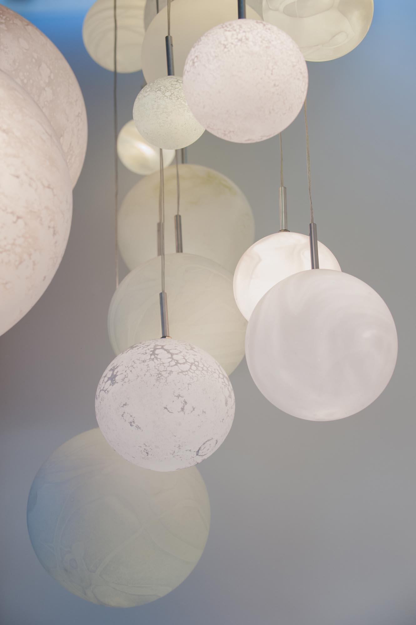 Planètes hanging lights, diam. 8 à 25cm