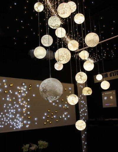 Lunes Chandelier, LEDs blanc chaud