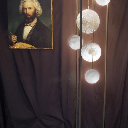 PLANÈTESTable lamp and floor lamp