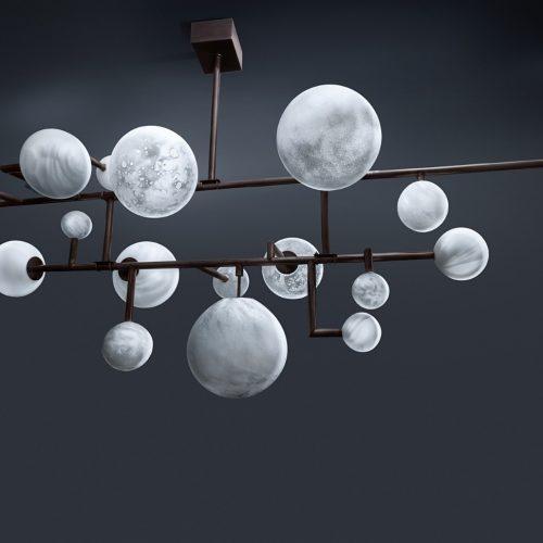 PLANÈTES<br><span>Balanced chandelier<span>