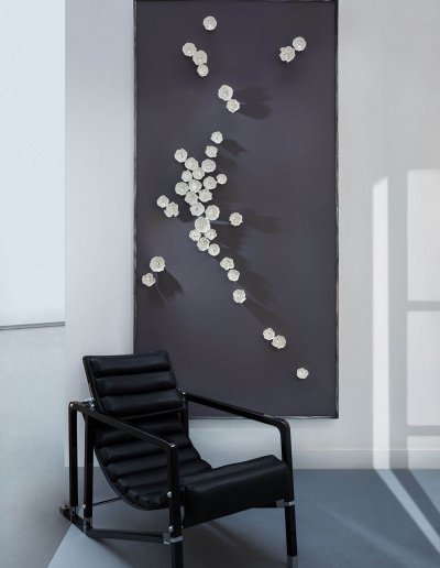 Hoya, panneau mural, 252x122x7cm, porcelaine, LEDs